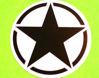 All Stars Five Pointed Star Black and White Variant Logo Waterproof Vinyl Sticker