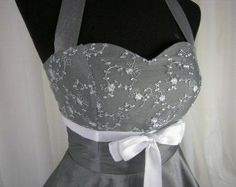 rockabilly wedding dress, prom dress,petticoat dress,dress, taylor made,grey, silver,cocktail dress, wedding gown