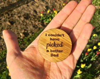 Father's Day Gift Custom Engraved Wooden Guitar Pick Box Oak Wood Personalized Plectrum Box Gift for Musician Gift for Him Husband Friend