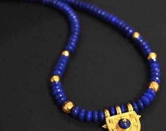 22k gold Byzantine style necklace