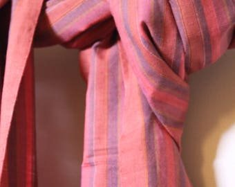 The 'Simi' Pink and Purple Scarf from Weaving Destination 100% Organic Cotton