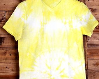 Men's tie-dye t-short size M, tie dye cotton short