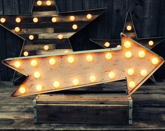 Marquee Arrow (Relic // Lighted Arrow Sign // Fun Fair Sign & Light // Vintage themed // Wedding // Home lighting // Wall Decor)