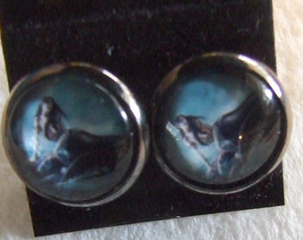 Mermaid    from painting the Siren  12 mm Post Earrings