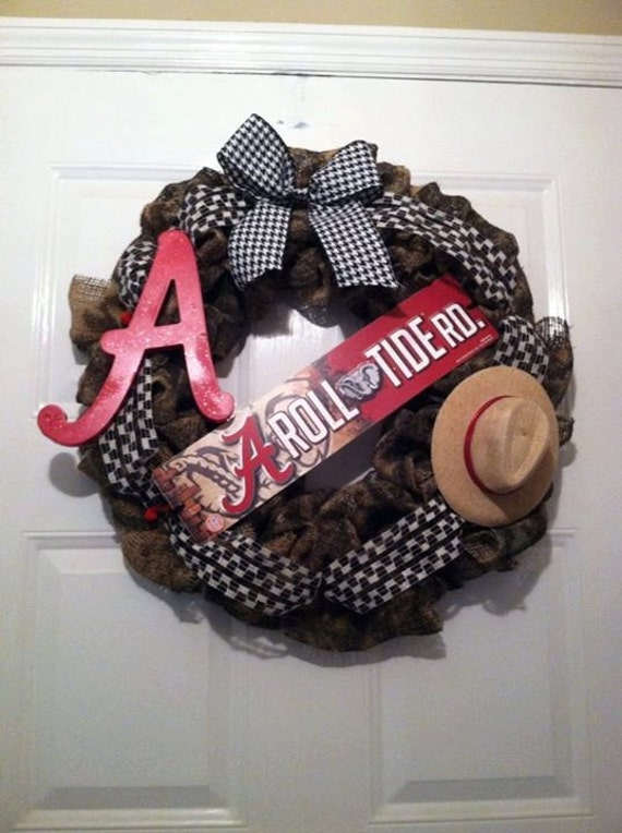 Alabama Wreath - Camoflauge Roll Tide Wreath - Camo Bama Wreath - Nick Saban Decor - Roll Tide Wreath - Bama Wreath - SEC Football - Big AL