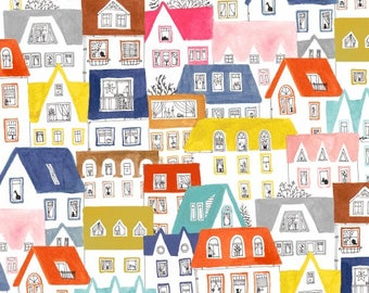 Pre-order: Paint the Town in Multi by Striped Pear Studio (Kirsten Sevig) from the Paint the Town collection for Windham #50364-X