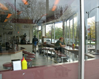 Johnny's Grill, diner, vintage restaurant, Logan Square, Chicago, photo, photography, art, vintage diner, food, stools, afternoon, city