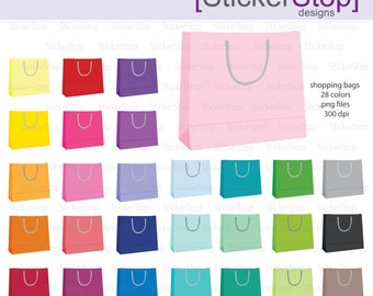 Shopping Bags Digital Clipart - Instant download PNG files