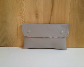 Large pouch, Scandinavian, gray and orange