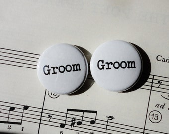 Groom and Groom -1 Inch Button Duo