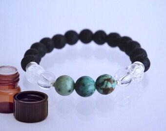 Scorpio - Oct 23 - Nov 21 Birthstone Crystal and Lava bead Bracelet