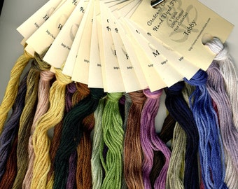 25 Skeins Crescent Colours Hand Dyed Embroidery Floss
