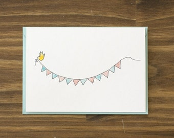 bunting welcome baby card baby shower