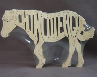 Misty of Chincoteague Assateague Wild Pony Horse Puzzle Wooden Toy Hand Cut with Scroll Saw