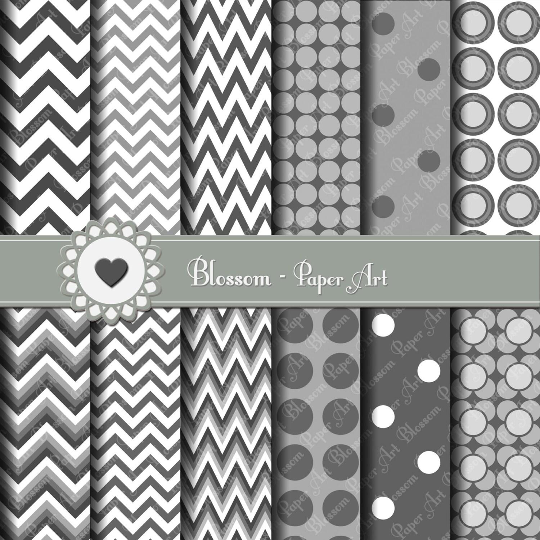 Papeles decorativos gris rayado y puntos en gris papeles - Papeles decorativos para imprimir ...