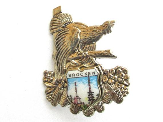 Bird Hatpin Vintage Germany Mountain Jewelry Brooch Hat Pin Pheasant Silver Metal Jewelry Oktoberfest Fathers Day Gift Ideas Brocken Saxony