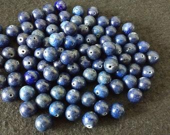 Vintage Lapis Lazuli 8mm Rounds