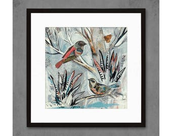 Oh Malta Birds in Tree Art Print
