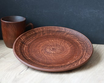 Handmade Ceramic Plate Brown Plate Pottery Plate Ceramic Plate Ceramic Dinner Plate & Pottery plates | Etsy