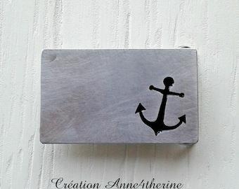 Anchor belt buckle :. Aluminium - Boat - Sailboat - Captain - Sailor - Nautical - Marine - Boating - Accessories - Decoration