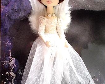 ANGEL DOLL Art Doll, cloth dolls, original handmade doll,ooak, heirloom dolls, collectors, unique fairytale gift for her fantasy FAITH