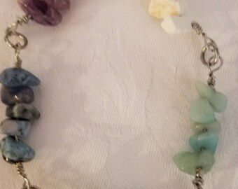 Mixed Bead Chips Bracelet