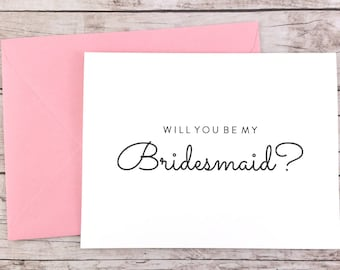 Will You Be My Bridesmaid Card, Bridesmaid Proposal Card, Wedding Card, Bridesmaid Gift - (FPS0016)