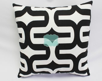 Pillow Cover - Premier Prints - EMBRACE - Black White - Home Decor Sofa Throw Pillow-Cover with Zipper Enclosure - All Sizes