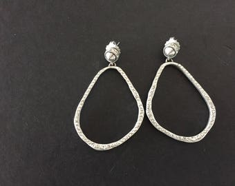 Crystal Hoop Earrings, Hoop Earrings, Bridal Earrings