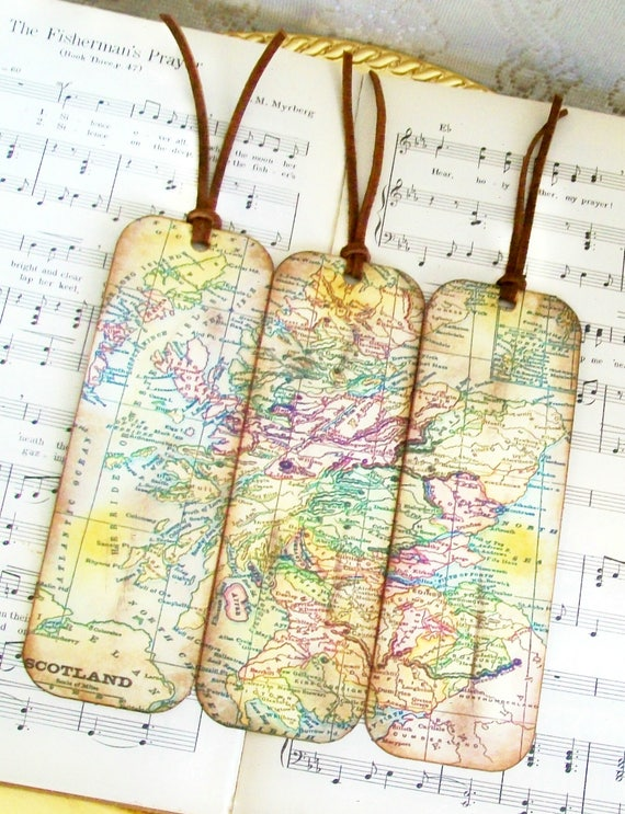 Scotland map bookmarks for men historical map bookmarks set like this item gumiabroncs Gallery