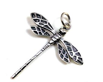 Dragonfly Pendant, Sterling Silver Pendant Necklace, Dragonfly Jewelry, 925 Silver Jewelry, Silver Dragonfly Necklace, UK Seller
