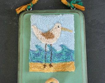 Sea Bird Punchneedle Embroidery Pattern PDF