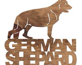 German Shepard Wooden Plaque