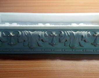Silicone mold for the production of plaster baguette Tile mold Silicone rubber for gypsum Cornice moulding plaster decorations mould making