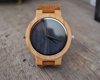 Personalized Wooden Watch, Wood Watch, Groomsmen Gifts, Engraved with personal text - Gift for Him/Her, Anniversary, Wedding gift, Fathers