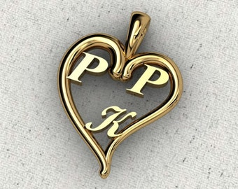SS  Who's In Your Heart Personalized Pendant  (also available in 14k,plat )