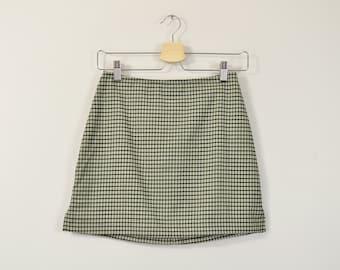 Plaid Mini Skirt, Vintage 90s Skirt, 90s Plaid Skirt, High Waisted Skirt, Vintage Mini Skirt, Soft Grunge Skirt, 90s Baby Skirt XS X-Small