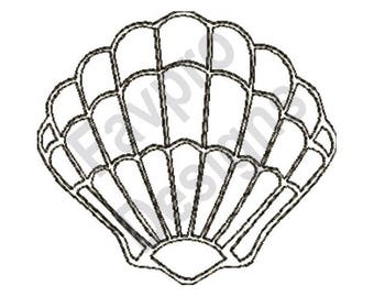 Shell Outline - Machine Embroidery Design