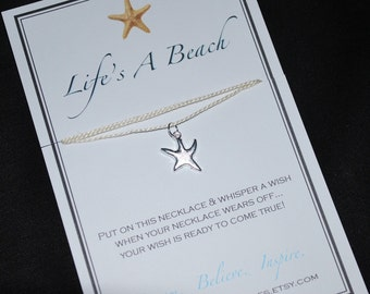 Life's A Beach Starfish Wish Necklace - Buy 3 Items, Get 1 Free
