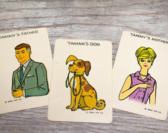 Vintage Mid-Century Tammy's Mother Father and Dog Mom Dad Cards 1950s Swap Junk Journal