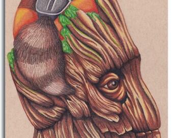 Treehouse print by Alicia Wishart