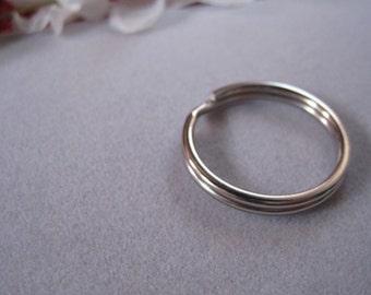 Split rings, Key rings, key chain rings, 20mm round, Stainless steel