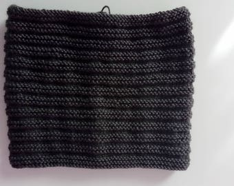 Snood, warm cowl, scarf, hand knitted.