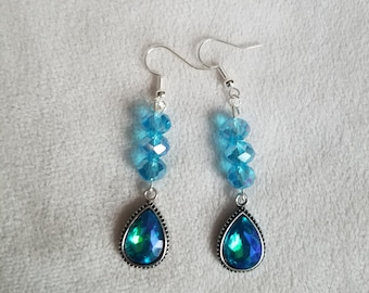 Turquoise & Blue Teardrop Earrings