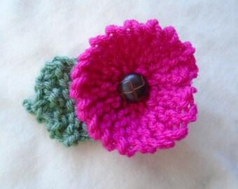 KNITTING PATTERN, Flower, Beginner level, Knit Flower Pattern and Leaf pattern, knitting accessories, Flower knitting pattern 849