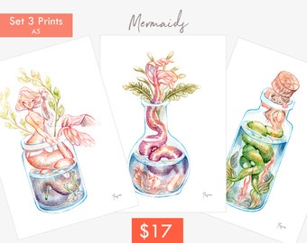 Mermaids Print pack (A4 - A5)