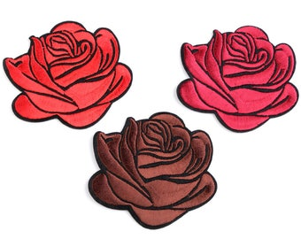 Iron on Patch for Jeans Flower - Rose