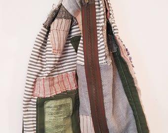 Hand stitched Vintage patchwork scarf.