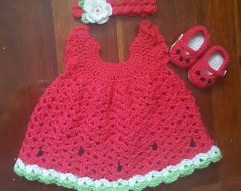 Crochet Watermelon Set