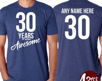 Years of Awesome, Men's Birthday T-shirt (Choose Age) / birthday shirt / birthday party / getting old / gift idea